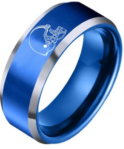 The National Football LeagueTM NFL Cleveland BrownsTM Team Logo Titanium Steel Ring Fashion for Fans Metal 6