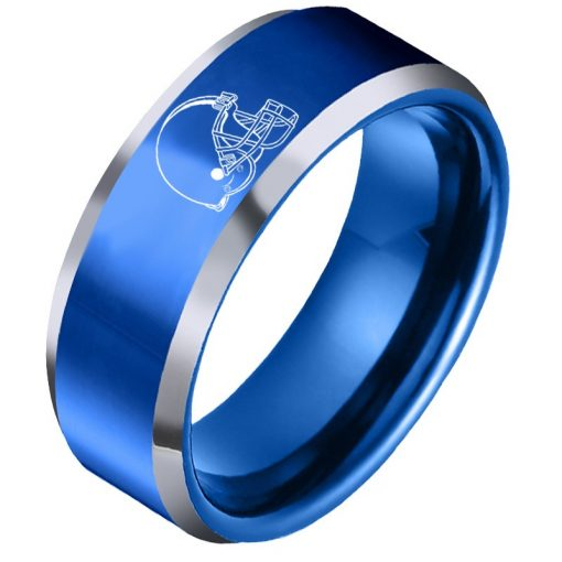 The National Football LeagueTM NFL Cleveland BrownsTM Team Logo Titanium Steel Ring Fashion for Fans Metal 6