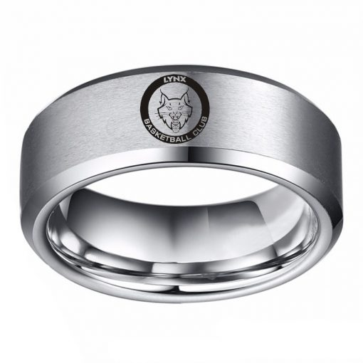 The W N B A Minnesota LynxTM Team Logo Titanium Steel Men s Ring Fashion for 1