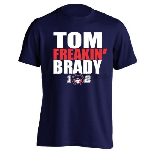 Tom Freaking Brady New England PATRIOTS Jersey Boston Football Mens T Shirt