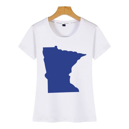 Tops T Shirt Women minnesota Funny Inscriptions Short Female Tshirt 1