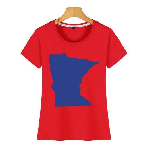 Tops T Shirt Women minnesota Funny Inscriptions Short Female Tshirt 2