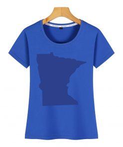 Tops T Shirt Women minnesota Funny Inscriptions Short Female Tshirt 3