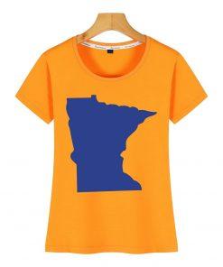 Tops T Shirt Women minnesota Funny Inscriptions Short Female Tshirt 4