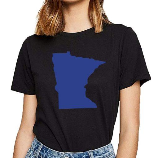 Tops T Shirt Women minnesota Funny Inscriptions Short Female Tshirt