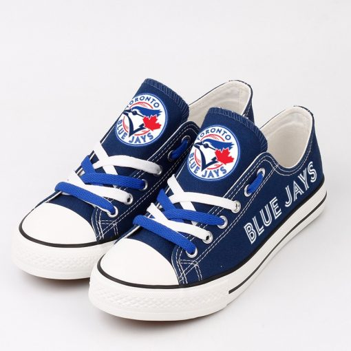 Toronto Blue Jays Low Top Canvas Shoes Sport
