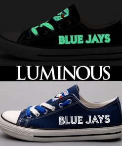Toronto Blue Jays Limited Luminous Low Top Canvas Sneakers