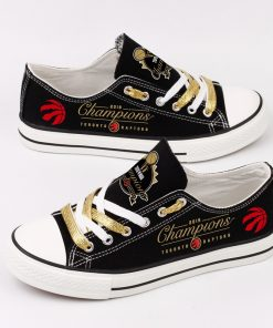 Toronto Raptors Limited Fans Low Top Canvas Sneakers