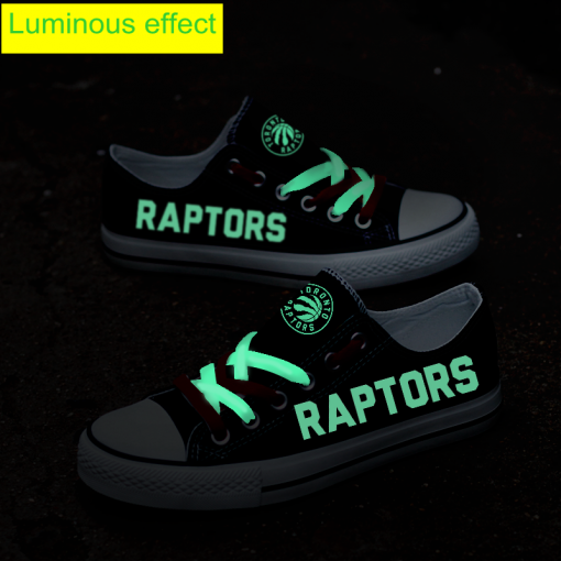 Toronto Raptors Limited Luminous Low Top Canvas Sneakers