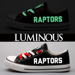 Toronto Raptors Limited Luminous Low Top Canvas Sneakers