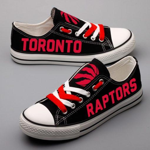 Toronto Raptors Limited Fans Low Top Canvas Shoes Sport