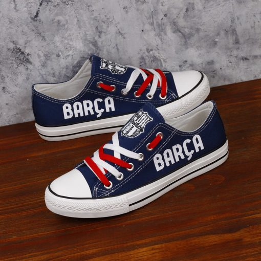 Barcelona Printed Canvas Sneakers