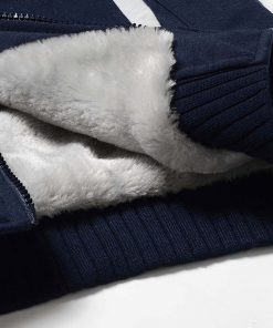 USA Size Men Kansas City Thicken Warm Winter Chiefs Champion Fleece Hoodie Zipper Hoodie Sweatshirt Jacket 4