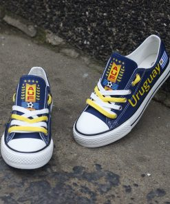 Uruguay National Team Low Top Canvas Sneakers