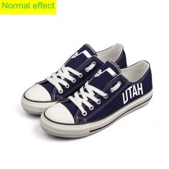 Utah Jazz Limited Fans Luminous Low Top Canvas Sneakers