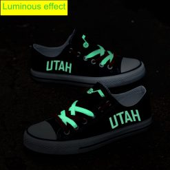 Utah Jazz Limited Fans Luminous Low Top Canvas Sneakers