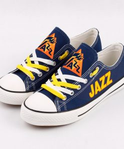 Utah Jazz Limited Fans Low Top Canvas Sneakers