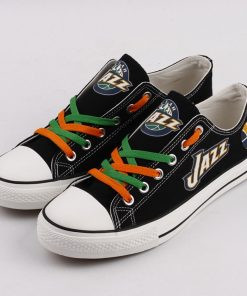 Utah Jazz Fans Low Top Canvas Sneakers