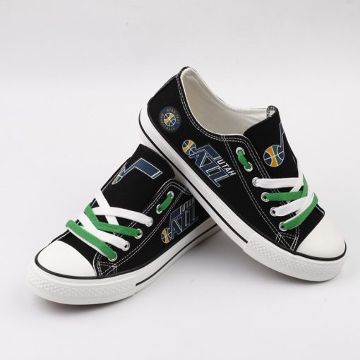 Utah Jazz Low Top Canvas Sneakers