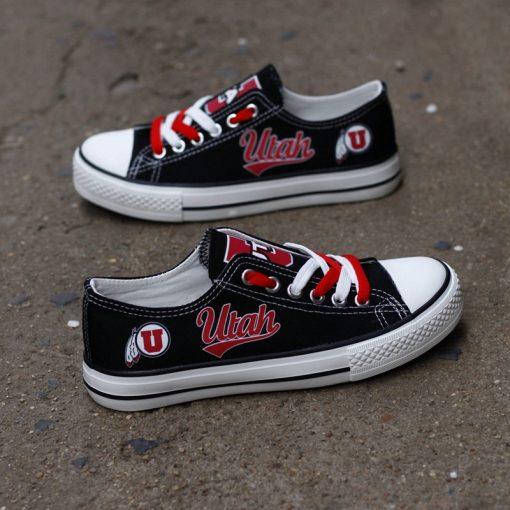 Utah Utes Limited Low Top Canvas Sneakers
