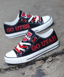 Utah Utes Limited Low Top Canvas Shoes Sport