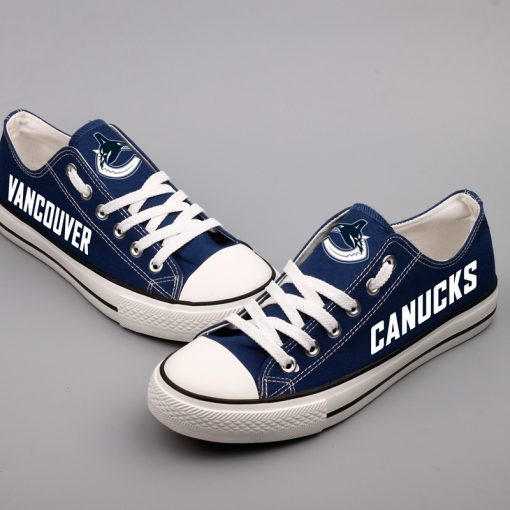 Vancouver Canucks Limited Low Top Canvas Sneakers