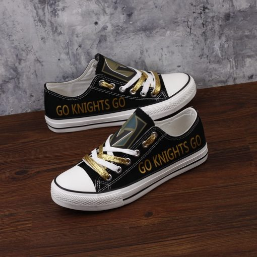 Vegas Golden Knights Fans Low Top Canvas Shoes Sport
