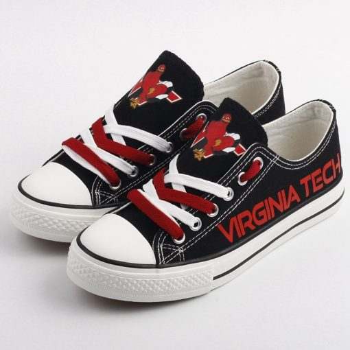 Virginia Tech Hokies Limited Low Top Canvas Shoes Sport