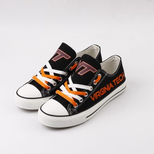 Virginia Tech Hokies Limited Fans Low Top Canvas Sneakers