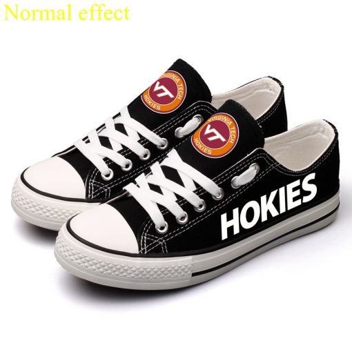 Virginia Tech Hokies Limited Luminous Low Top Canvas Sneakers