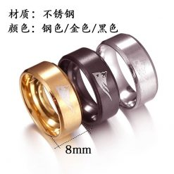 Visisap European American New England Patriot Rings for Woman Dropshipping Stainless Steel Man Ring Punk Fashion 1