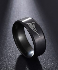 Visisap European American New England Patriot Rings for Woman Dropshipping Stainless Steel Man Ring Punk Fashion 2