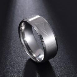 Visisap European American New England Patriot Rings for Woman Dropshipping Stainless Steel Man Ring Punk Fashion 4