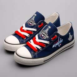 Washington Capitals Low Top Canvas Sneakers