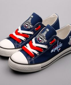 Washington Capitals Low Top Canvas Sneakers