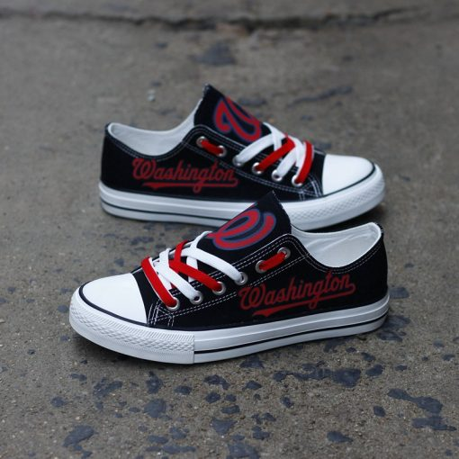 Washington Nationals Limited Low Top Canvas Shoes Sport