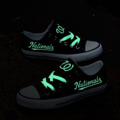 Washington Nationals Limited Luminous Low Top Canvas Sneakers