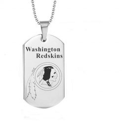 Washington Redskins Engraving Tungsten Necklace