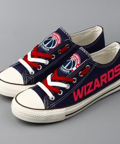 Washington Wizards Low Top Canvas Shoes Sport