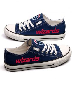 Washington Wizards Low Top Canvas Sneakers