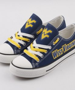 West Virginia Mountaineers Limited Low Top Canvas Sneakers