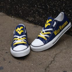 West Virginia Mountaineers Limited Low Top Canvas Shoes Sport