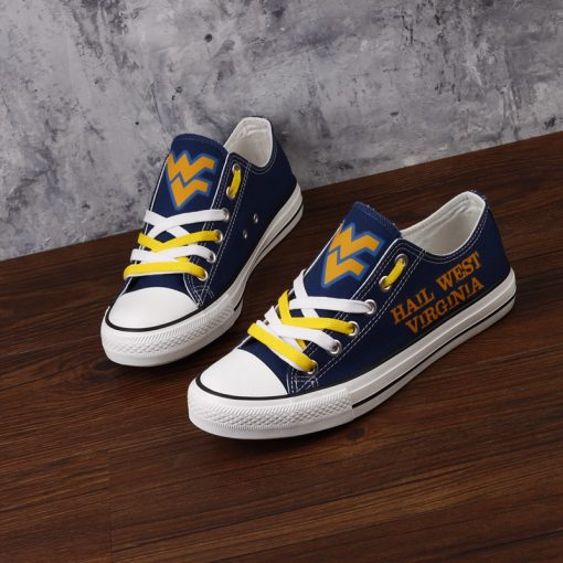 West Virginia Mountaineers Limited Fans Low Top Canvas Shoes Sport