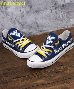West Virginia Mountaineers Limited Luminous Low Top Canvas Sneakers