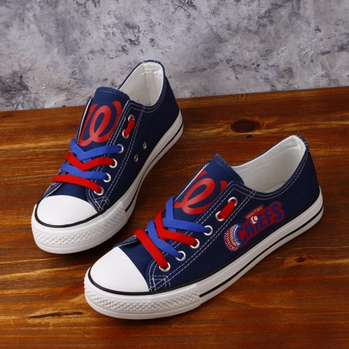 Whitby Chiefs Limited Baseball Fans Low Top Canvas Shoes Sport