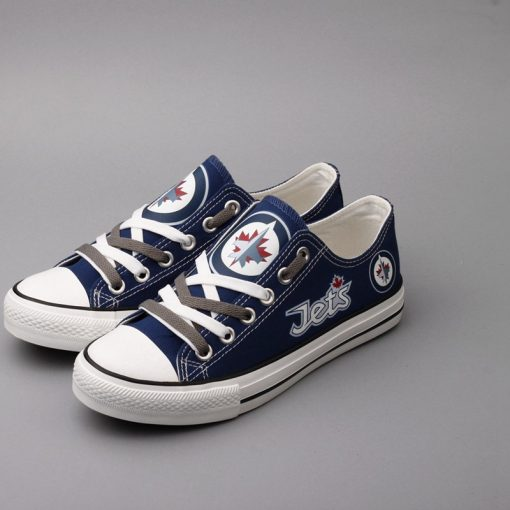 Winnipeg Jets Limited Low Top Canvas Shoes Sport