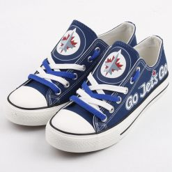 Winnipeg Jets Limited Fans Low Top Canvas Sneakers