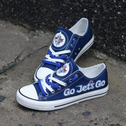 Winnipeg Jets Limited Fans Low Top Canvas Sneakers