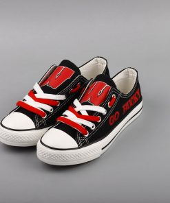 Wisconsin Badgers Limited Fans Low Top Canvas Shoes Sport