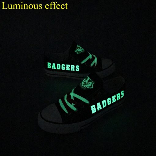 Wisconsin Badgers Limited Luminous Low Top Canvas Sneakers